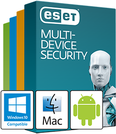 ESET Multi-Device Security Pack: Advanced Antivirus Bundle for Windows, Mac, and Android